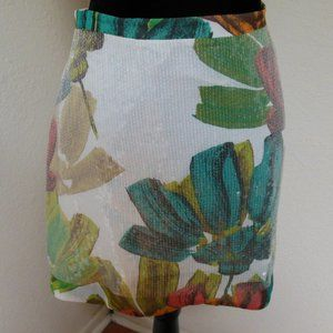 Kenneth Cole Floral Sequin Skirt